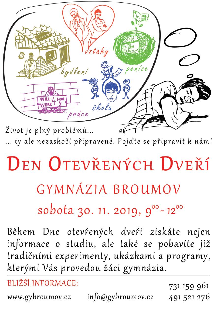 Den otevřených dveří 30.11.2019 9:00-12:00